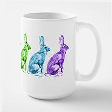 Rainbow Rabbits Large Mug