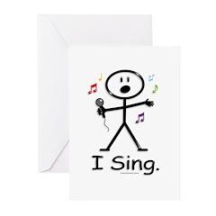 BusyBodies Singer Greeting Cards (Pk of 10)