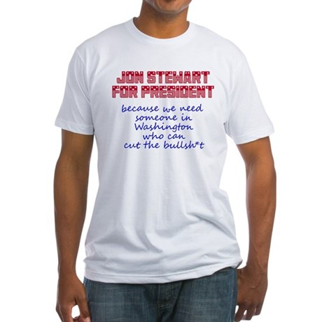 Jon Stewart for President Fitted T-Shirt