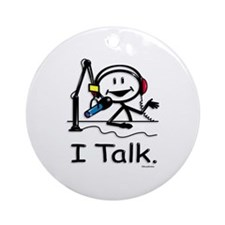 Cute Talk radio Ornament (Round)