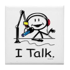 BusyBodies Radio Talk Show Host Tile Coaster