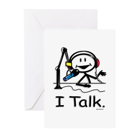 BusyBodies Radio Talk Show Host Greeting Cards (Pa