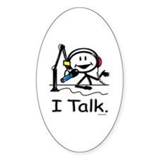 BusyBodies Radio Talk Show Host Oval Decal