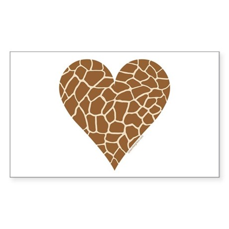 I Love Giraffes Sticker (Rectangle)