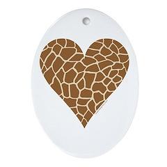 I Love Giraffes Ornament (Oval)