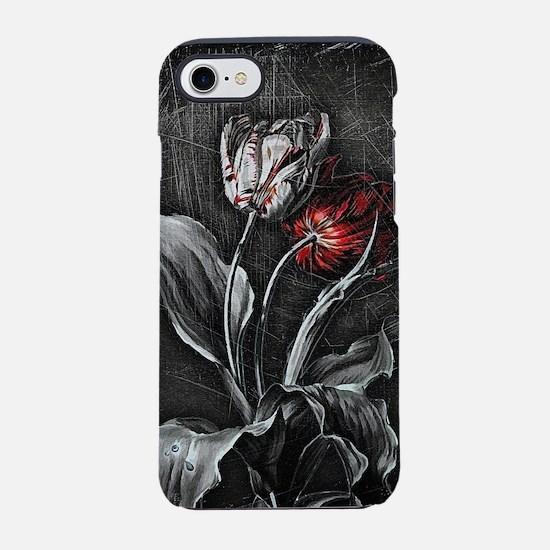 Dark Tulips iPhone 7 Tough Case