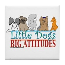 Big Attitudes Tile Coaster