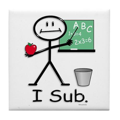 BusyBodies Substitute Teacher Tile Coaster