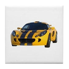 Yellow Exige Tile Coaster