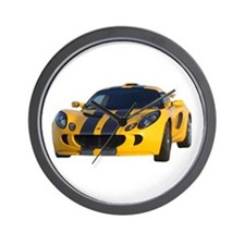 Yellow Exige Wall Clock