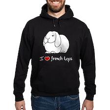 I Love French Lops Hoodie