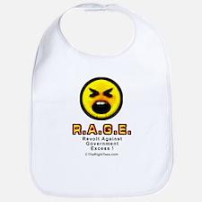 R.A.G.E. Revolt Against Gov Excess Baby Bib