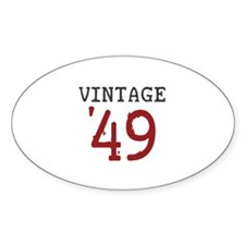 Vintage 1949 Oval Decal
