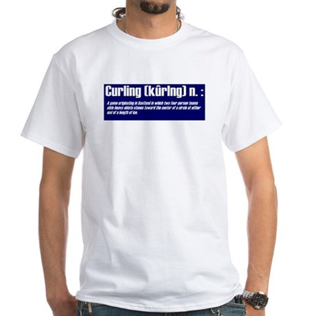 """""""Curling Defined"""" White T-Shirt"""