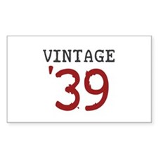 Vintage 1939 Rectangle Decal