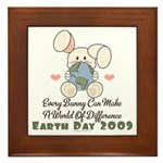Every Bunny Earth Day Framed Tile