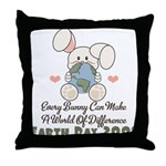 Every Bunny Earth Day Throw Pillow