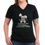 Every Bunny Earth Day Women's V-Neck Dark T-Shirt