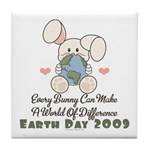 Every Bunny Earth Day Tile Coaster