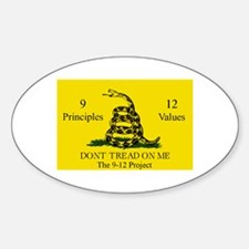 Don't Tread on Me 9-12 Oval Decal