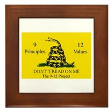 Don't Tread on Me 9-12 Framed Tile