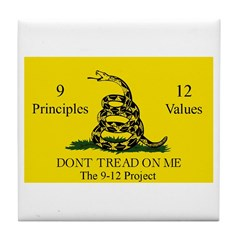 Don't Tread on Me 9-12 Tile Coaster