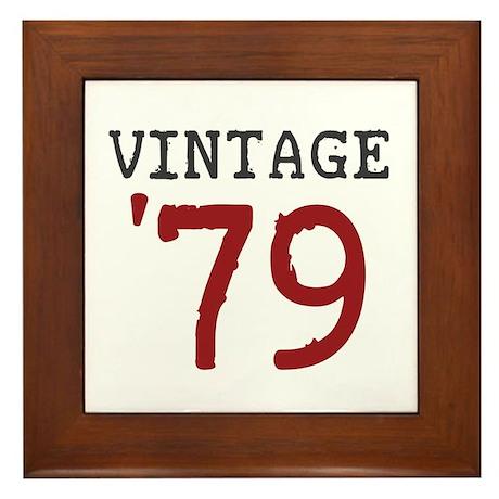 Vintage 1979 Framed Tile