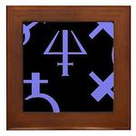 Gothic/Goth Alchemy Symbols (black & purple) Frame