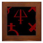 Gothic/Goth Alchemy Symbols (black & red) Framed T