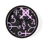 Gothic/Goth Alchemy Symbols (black & pink) Wall Cl