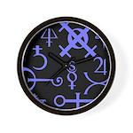 Gothic/Goth Alchemy Symbols (black & purple) Wall