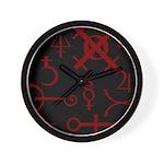 Gothic/Goth Alchemy Symbols (black & red) Wall Clo