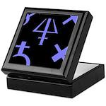 Gothic/Goth Alchemy Symbols (black & purple) Tile