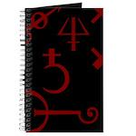 Gothic/Goth Alchemy Symbols (black & red) Journal