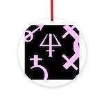 Gothic/Goth Alchemy Symbols (black & pink) Ornamen