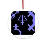 Gothic/Goth Alchemy Symbols (black & purple) Ornam