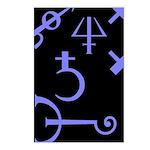 Gothic/Goth Alchemy Symbols (black & purple) Postc