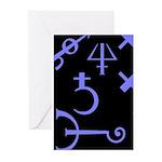 Gothic/Goth Alchemy Symbols (black & purple) Greet