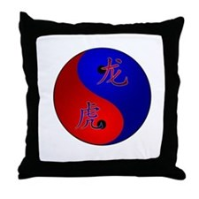 Tiger/Dragon Yin/Yang Throw Pillow