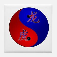 Tiger/Dragon Yin/Yang Tile Coaster