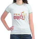 It's a Girl Jr. Ringer T-Shirt