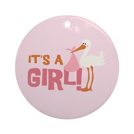 It's a Girl Ornament (Round)