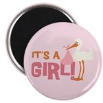 "It's a Girl 2.25"" Magnet (100 pack)"