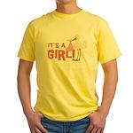 It's a Girl Yellow T-Shirt
