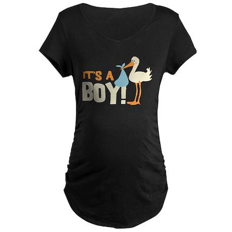 It's a Boy Maternity Dark T-Shirt