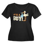 It's a Boy Women's Plus Size Scoop Neck Dark T-Shi