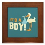 It's a Boy Framed Tile