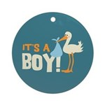 It's a Boy Ornament (Round)