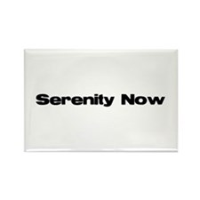 Serenity now Rectangle Magnet (100 pack)