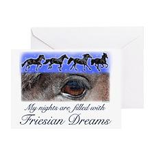 Friesian Dreams Greeting Card